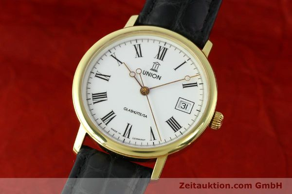 Used luxury watch Union Glashütte * gilt steel automatic Kal. ETA 2824-2  | 141629 04