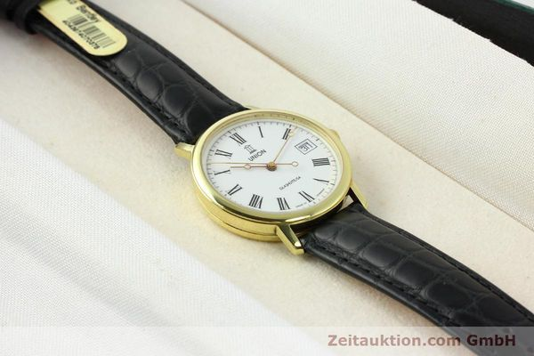 Used luxury watch Union Glashütte * gilt steel automatic Kal. ETA 2824-2  | 141629 07