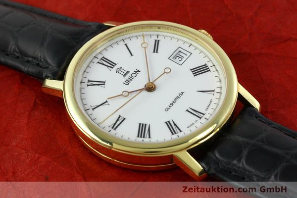 Used luxury watch Union Glashütte * gilt steel automatic Kal. ETA 2824-2  | 141629 14