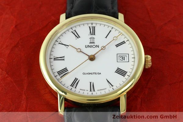 Used luxury watch Union Glashütte * gilt steel automatic Kal. ETA 2824-2  | 141629 15