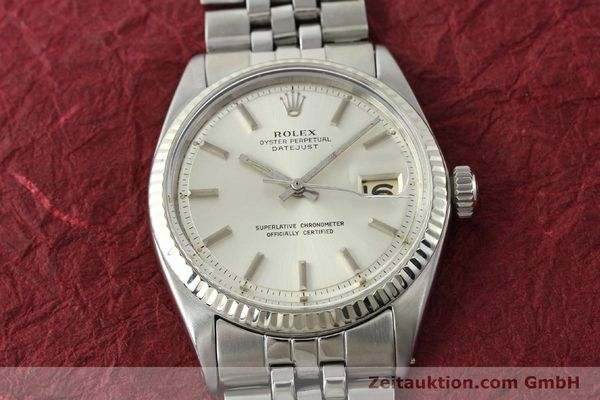 montre de luxe d occasion Rolex Datejust acier / or  automatique Kal. 1560 Ref. 1601  | 141637 15
