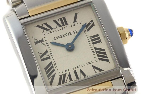 Used luxury watch Cartier Tank Francaise steel / gold quartz Kal. 057  | 141645 02