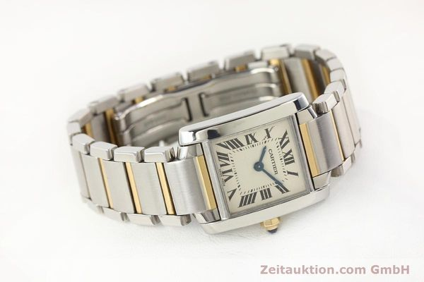 Used luxury watch Cartier Tank Francaise steel / gold quartz Kal. 057  | 141645 03