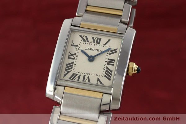 Used luxury watch Cartier Tank Francaise steel / gold quartz Kal. 057  | 141645 04
