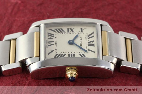 Used luxury watch Cartier Tank Francaise steel / gold quartz Kal. 057  | 141645 05