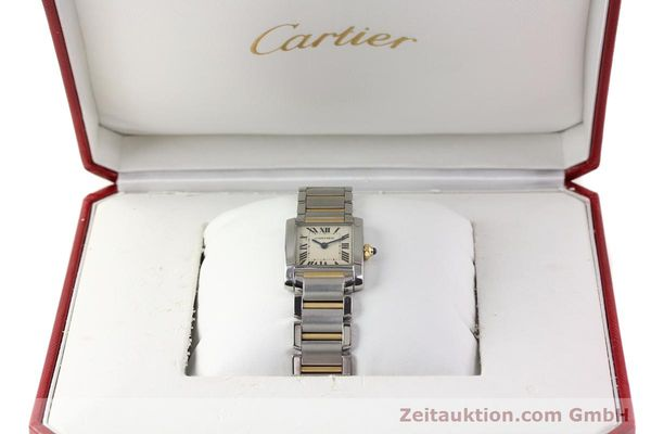 Used luxury watch Cartier Tank Francaise steel / gold quartz Kal. 057  | 141645 07
