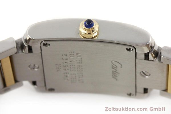 Used luxury watch Cartier Tank Francaise steel / gold quartz Kal. 057  | 141645 08