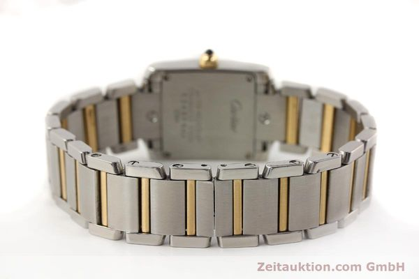 Used luxury watch Cartier Tank Francaise steel / gold quartz Kal. 057  | 141645 10