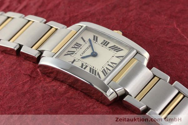 Used luxury watch Cartier Tank Francaise steel / gold quartz Kal. 057  | 141645 12