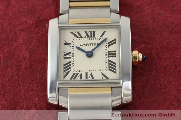 Used luxury watch Cartier Tank Francaise steel / gold quartz Kal. 057  | 141645 13