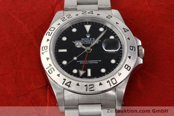 Used luxury watch Rolex Explorer steel automatic Kal. 3185 Ref. 16570  | 141646 16