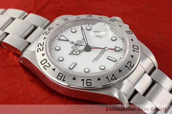 Used luxury watch Rolex Explorer steel automatic Kal. 3185 Ref. 16570  | 141647 16
