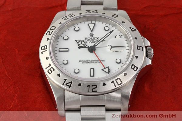 Used luxury watch Rolex Explorer steel automatic Kal. 3185 Ref. 16570  | 141647 17