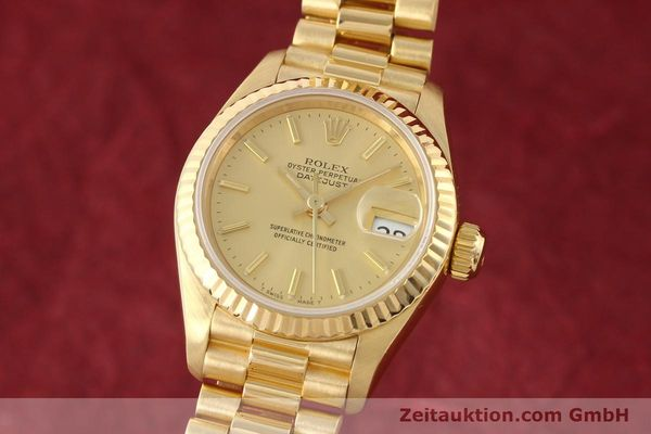 Used luxury watch Rolex Lady Datejust 18 ct gold automatic Kal. 2135 Ref. 69178  | 141665 04