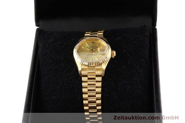 Used luxury watch Rolex Lady Datejust 18 ct gold automatic Kal. 2135 Ref. 69178  | 141665 07