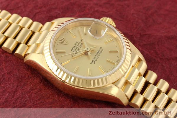 Used luxury watch Rolex Lady Datejust 18 ct gold automatic Kal. 2135 Ref. 69178  | 141665 16