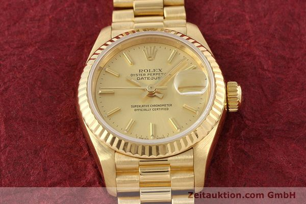 Used luxury watch Rolex Lady Datejust 18 ct gold automatic Kal. 2135 Ref. 69178  | 141665 17
