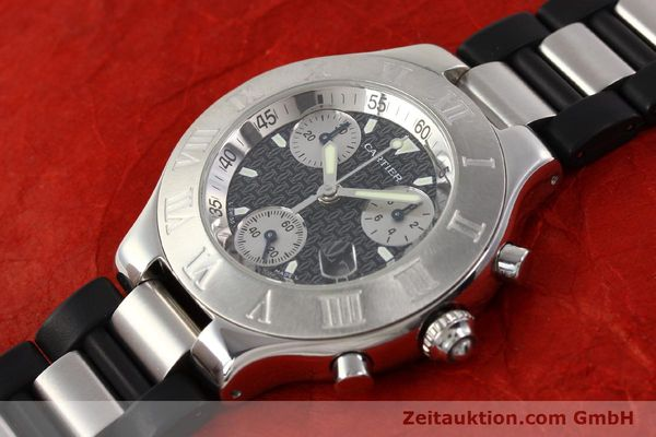 Used luxury watch Cartier Chronoscaph 21 steel quartz Kal. 272 ETA 251272  | 141670 01