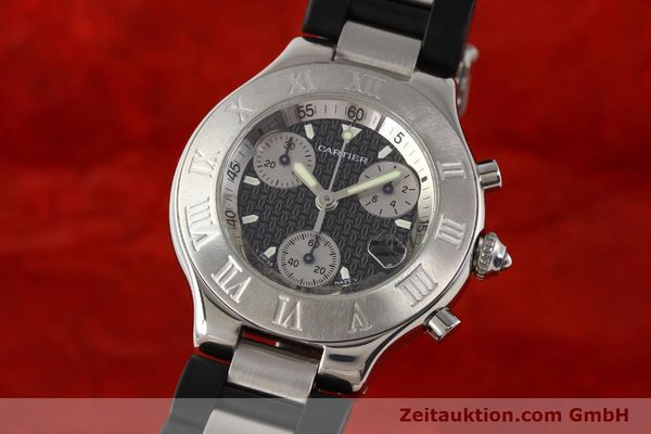Used luxury watch Cartier Chronoscaph 21 steel quartz Kal. 272 ETA 251272  | 141670 04