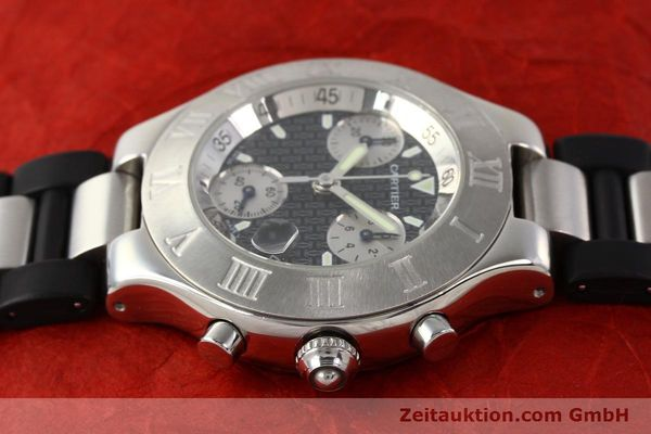 Used luxury watch Cartier Chronoscaph 21 steel quartz Kal. 272 ETA 251272  | 141670 05