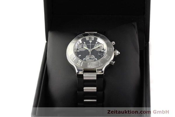 Used luxury watch Cartier Chronoscaph 21 steel quartz Kal. 272 ETA 251272  | 141670 07