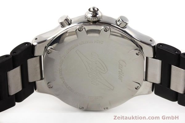 Used luxury watch Cartier Chronoscaph 21 steel quartz Kal. 272 ETA 251272  | 141670 09