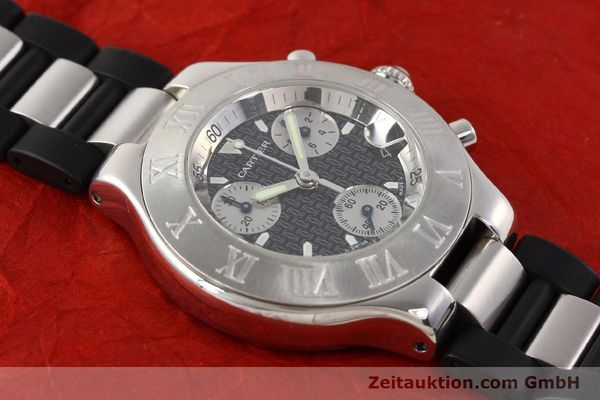 Used luxury watch Cartier Chronoscaph 21 steel quartz Kal. 272 ETA 251272  | 141670 12