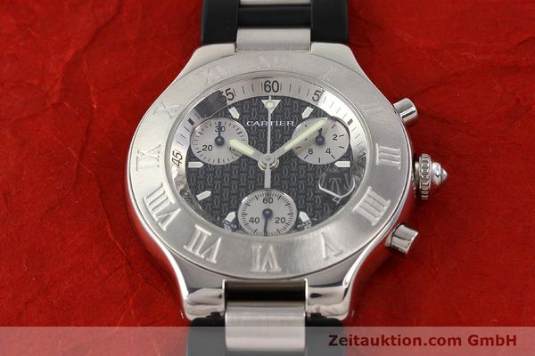 Used luxury watch Cartier Chronoscaph 21 steel quartz Kal. 272 ETA 251272  | 141670 13