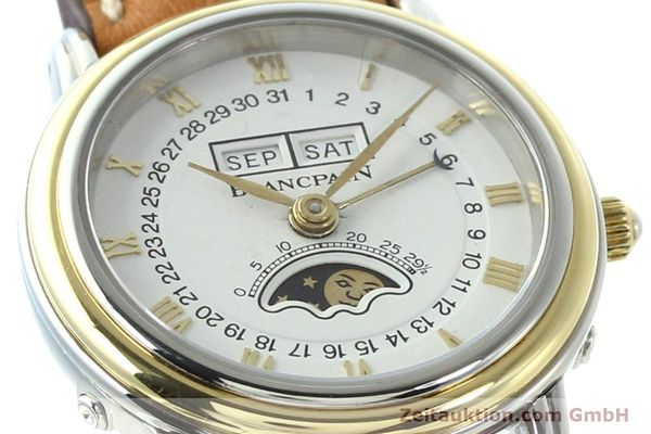 Used luxury watch Blancpain Villeret steel / gold automatic Kal. 95  | 141671 02