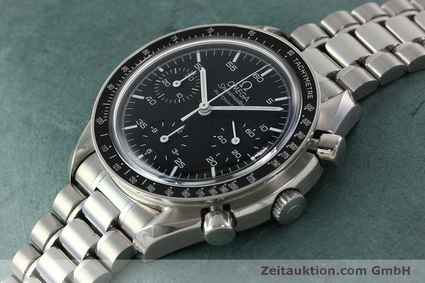 Used luxury watch Omega Speedmaster chronograph steel automatic Kal. 1143 ETA 2890A2 Ref. 35105000  | 141674 01