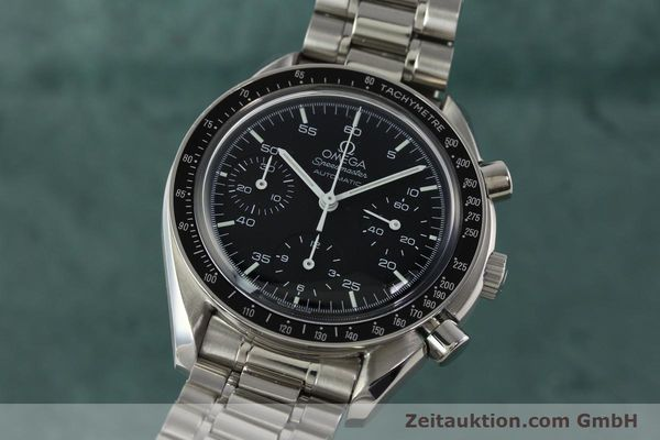 Used luxury watch Omega Speedmaster chronograph steel automatic Kal. 1143 ETA 2890A2 Ref. 35105000  | 141674 04