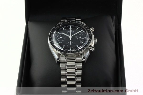 Used luxury watch Omega Speedmaster chronograph steel automatic Kal. 1143 ETA 2890A2 Ref. 35105000  | 141674 07