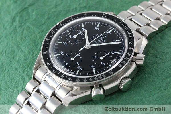 Used luxury watch Omega Speedmaster chronograph steel automatic Kal. 3220A  | 141675 01