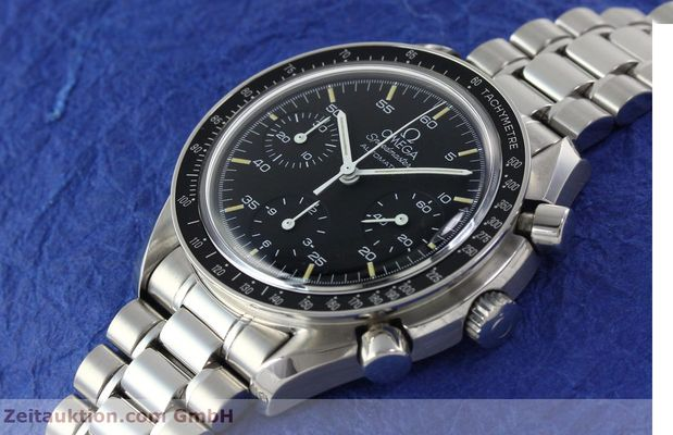 Used luxury watch Omega Speedmaster chronograph steel automatic Kal. 1143 ETA 2890A2  | 141678 01