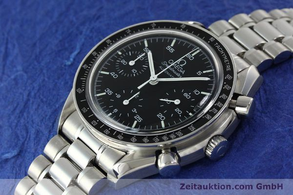 Used luxury watch Omega Speedmaster chronograph steel automatic Kal. 1143 ETA 2890A2 Ref. 35105000  | 141679 01