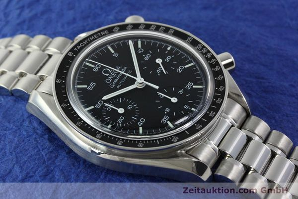 Used luxury watch Omega Speedmaster chronograph steel automatic Kal. 1143 ETA 2890A2 Ref. 35105000  | 141679 15