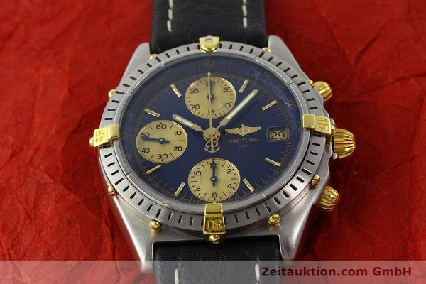 Used luxury watch Breitling Chronomat chronograph steel / gold automatic Kal. B13 VAL 7750 Ref. 81.950 / B13047  | 141683 14