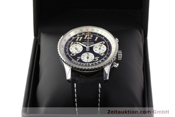 Used luxury watch Breitling Navitimer chronograph steel automatic Kal. B28 ETA 2892-2 Ref. A39022.1  | 141687 07