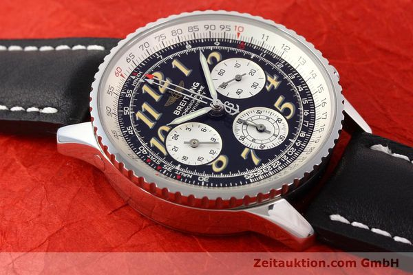 Used luxury watch Breitling Navitimer chronograph steel automatic Kal. B28 ETA 2892-2 Ref. A39022.1  | 141687 13