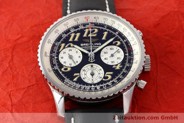 Used luxury watch Breitling Navitimer chronograph steel automatic Kal. B28 ETA 2892-2 Ref. A39022.1  | 141687 14
