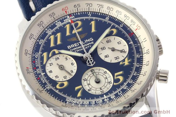 Used luxury watch Breitling Navitimer chronograph steel automatic Kal. ETA 2824-2 Ref. A39022.1  | 141688 02