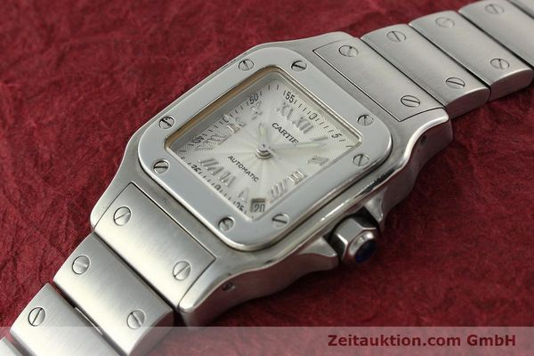 Used luxury watch Cartier Santos steel automatic Kal. 077 ETA 2671  | 141698 01