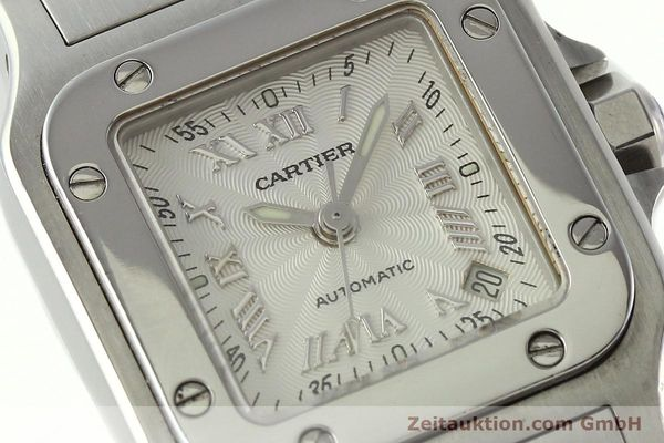Used luxury watch Cartier Santos steel automatic Kal. 077 ETA 2671  | 141698 02