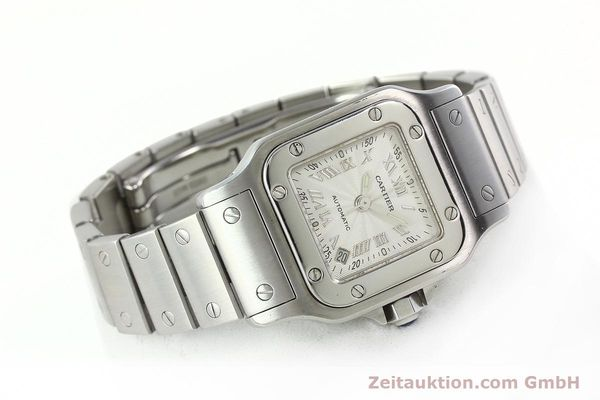 Used luxury watch Cartier Santos steel automatic Kal. 077 ETA 2671  | 141698 03
