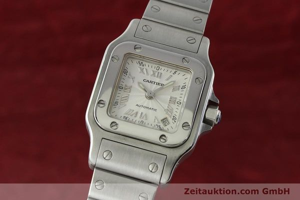 Used luxury watch Cartier Santos steel automatic Kal. 077 ETA 2671  | 141698 04