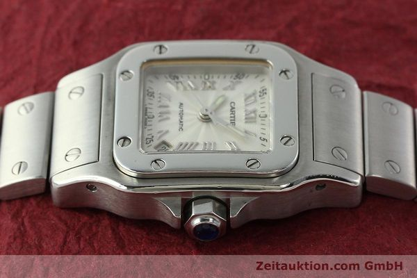 Used luxury watch Cartier Santos steel automatic Kal. 077 ETA 2671  | 141698 05