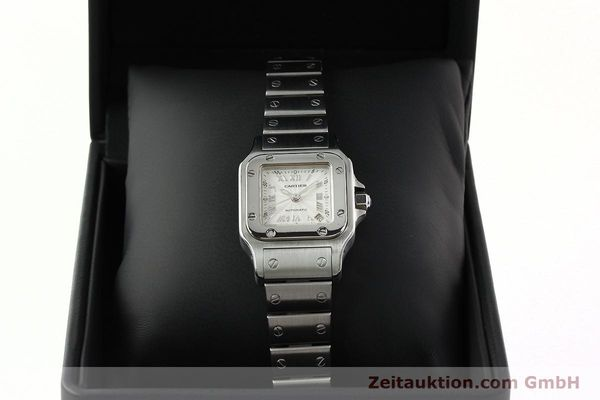 Used luxury watch Cartier Santos steel automatic Kal. 077 ETA 2671  | 141698 07