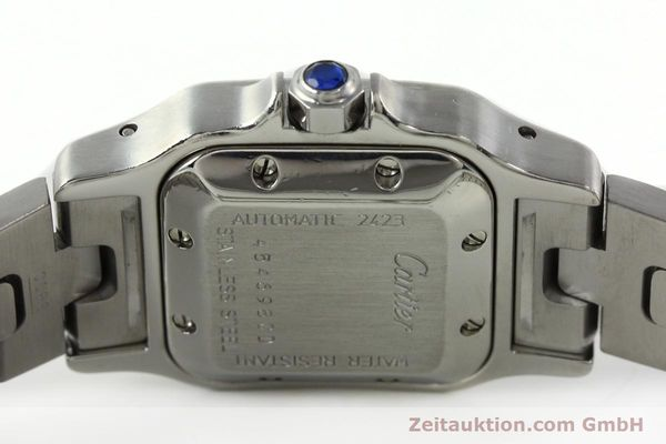 Used luxury watch Cartier Santos steel automatic Kal. 077 ETA 2671  | 141698 09
