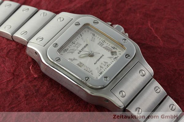 Used luxury watch Cartier Santos steel automatic Kal. 077 ETA 2671  | 141698 12