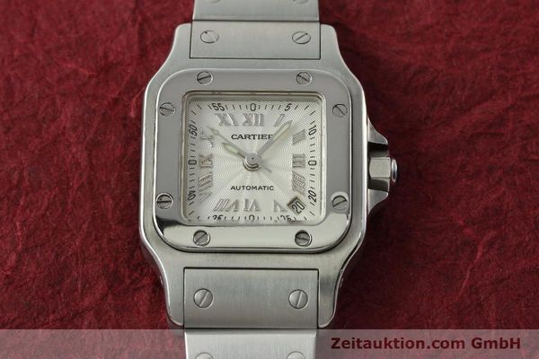 Used luxury watch Cartier Santos steel automatic Kal. 077 ETA 2671  | 141698 13